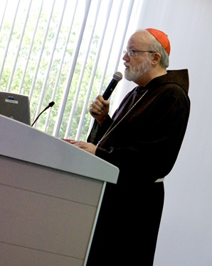 A delegation of German Catholic communications professionals led by Bishop Gebhard Furst of the Diocese of Rottenburg-Stuttgart visits the Boston Pastoral Center Sept. 4, 2008.<br /> Pilot photo/ Gregory L. Tracy
