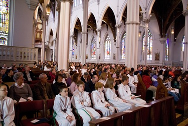 Altar server appreciation Mass, Oct. 4, 2008 at the Cathedral of the Holy Cross.&lt;br /&gt; Pilot photo/courtesy Andres Enrique