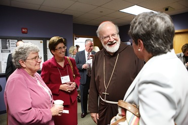 Catholic educators meet with Cardinal Sean P. O'Malley and Superintendent of Schools  Mary Grassa O'Neill Sept. 25, 2008 at the Pastoral Center in Braintree, Mass.<br /> Pilot photo/  Gregory L. Tracy<br />