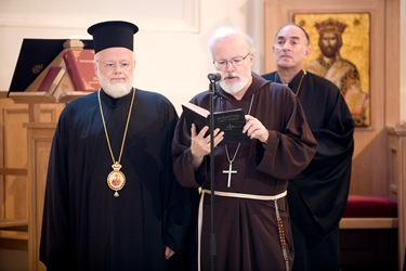 Cardinal O'Malley and Metropolitan Methodios visit the Greek Orthodox Church  in Rome, St. Theodore.<br /> Pilot/ Photo Gregory L. Tracy