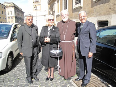 Bishop Adalberto Martinez of Paraguay, Amb. Geronimo Narvaez and his wife. Snata Maria Maggiore