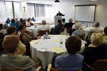 Pastoral Associates meeting where Sister Dorothea Masuret is honored for her years of service. Photo by george martell