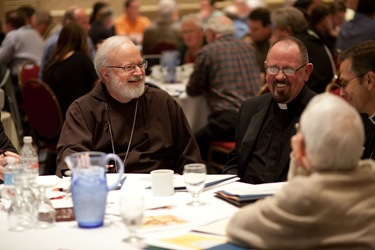 Boston priests gather for a convocation and day of fraternity June 10, 2009 at the Burlington Marriott.  Photo by Gregory L. Tracy, The Pilot