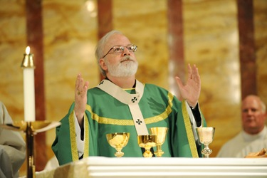 Mass with Cardinal Sean O'Malley and the Serrans at the chapel of St. John's Seminary in Brighton, Mass., Friday, June 26, 2009. (Photo/Lisa Poole)