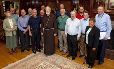 (08262009)-Dover, MA, Cabinet Retreat Members of Cardinal Sen O'Malley's Cabinet meet at the Connor's Retreat and Conference Center in Dover, MA this past Tuesday and Wednesday. The theme of the retreat was &quot;Enlivening the Mission of the Archdiocese. Photos by George Martell
