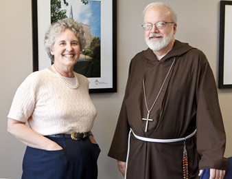 Rev. Diane Kessler meets with Cardinal O&#39;malley at the Boston Archdiocese&#39;s Pastoral Center Aug. 7, 2009. Pilot photo/ Gregory L. Tracy
