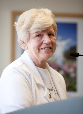 Farewell gathering for Sister Clare Bertero, Archdiocese of Boston Pastoral Center, Aug. 27, 2009. Pilot photo by Gregory L. Tracy