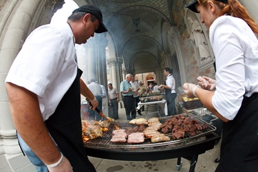 Annual St. John Vianney holy hour and cookout held at St. John's Seminary in Brighton, Aug. 13, 2009. Pilot photo/ Gregory L. Tracy