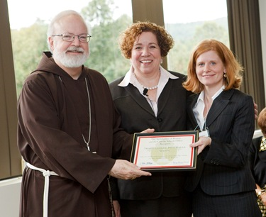 "Secretary of Education and Superintendent of Schools for the Archdiocese of Boston Mary Grassa O'Neill and Cardinal Seán P. O'Malley host a ""Celebration on Education"" for principals and pastors at the archdiocese's Pastoral Center Sept. 16, 2009.