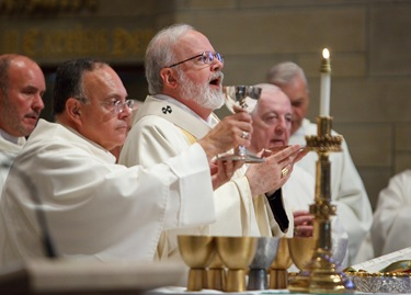Cardinal O'malley celebrates his jubilee with the priests of the archdiocese at St. Theresa of Avila Parish, west Roxbury Sept. 24, 2009. Pilot photo/ Gregory L. Tracy