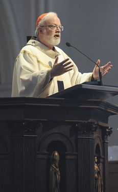 Cardinal Sean O'Malley during an altar server appreciation mass at the Cathedral of the Holy Cross, Boston, Saturday, Oct. 31, 2009. (Photo/Lisa Poole)
