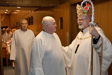 Cardinal O'Malley celebrates Mass at the Regina Cleri retirement residence for priests Jan. 14, 2009.