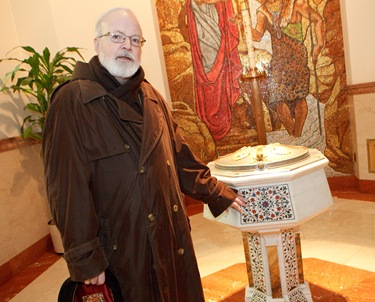 Cardinal Sean P. O'Malley visits St. Matthews Cathedral in Washington, DC Jan. 22, 2010. Photo by Gregory L. Tracy