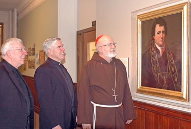 o'malley jl 012510-01. Cardinal Sean O'Malley visits the College of the Holy Cross.(Jeff Loughlin photo)