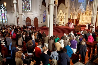 Rite of Election and Celebration of the Call to Continuing Conversion Feb. 21, 2010.  Pilot photo by Gregory L. Tracy