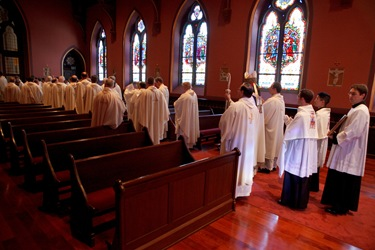Ordination of transitional deacons at Boston's Cathedral of the Holy Cross, Jan. 30, 2010.  Photo by Gregory L. Tracy/ The Pilot