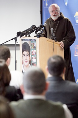 Press conference to launch the Archdiocese of Boston's 2010 Catholic Appeal, March 5, 2010. Pilot photo by Gregory L. Tracy