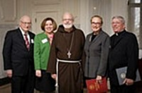 Regis_Dr. Robert Sperber, Dr. Mary Grassa O'Neill, Cardinal Sean, Dr. Mary Jane England, Father Paul Kilroy 1-7318