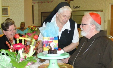 CJC_24 Sister Angela presenting Cardinal O'Malley with a birthday gift Brockton 062710 ED-ed