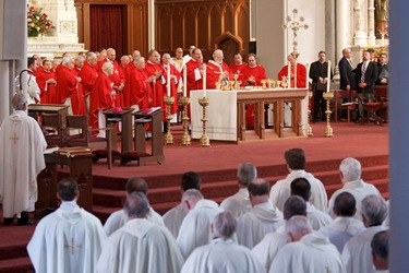 Episcopal ordination of Boston auxiliary Bishops Arthur Kennedy and Peter Uglietto, Sept. 14, 2010. Pilot photo by Gregory L. Tracy