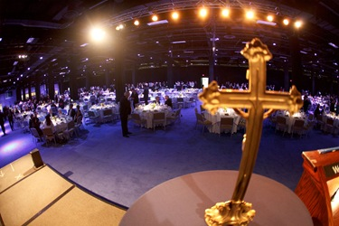 Second annual Priest Appreciation Dinner at Boston&#39;s Seaport World Trade Center Sept. 16, 2010. Pilot photo by Gregory L. Tracy