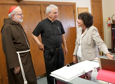 Cardinal Seán P. O'Malley celebrates the opening Mass of Quincy Catholic Academy at Sacred Heart Church Sept. 8, 2010. Following the Mass, Cardinal O'Malley was given a tour of the school's facilities by principal Catherine Cameron.