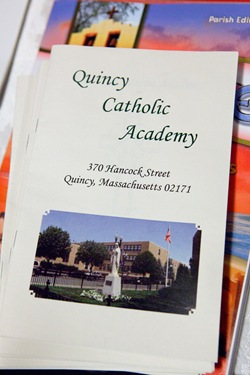 Cardinal Sen P. OMalley celebrates the opening Mass of Quincy Catholic Academy at Sacred Heart Church Sept. 8, 2010. Following the Mass, Cardinal OMalley was given a tour of the schools facilities by principal Catherine Cameron.&#10;Photo by Gregory L. Tracy/ The Pilot&#10;