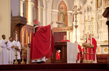 The Annual Red Mass is celebrated at the Cathedral of the Holy Cross, Sept. 26, 2010. The Red Mass Luncheon feature keynote speaker Prof. Helen Alvare. Pilot photo by Jim Lockwood