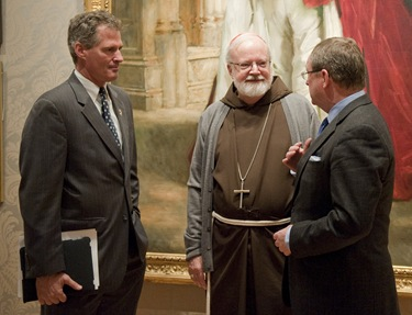 2. U.S. Senator Scott Brown, Boston Cardinal Sean O'Malley, and Malcolm Rogers, Ann and Graham Gund Director of the Museum of Fine Arts, Boston.