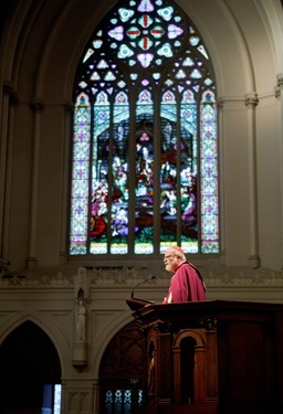Presentation of the 2010 Cheverus Awards at the Cathedral of the Holy Cross Nov. 28. 2010. Pilot photo by Gregory L. Tracy