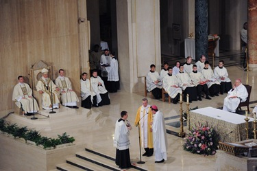 Mass and Inaugural for Catholic University of America President John H. Garvey, J.D. on Tuesday, January 25, 2011 in at the National Shrine in Washington, DC.