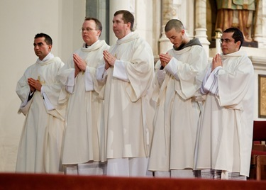 Ordination of transitional deacons, Jan. 22, 2011. Pilot photo by Gregory L. Tracy