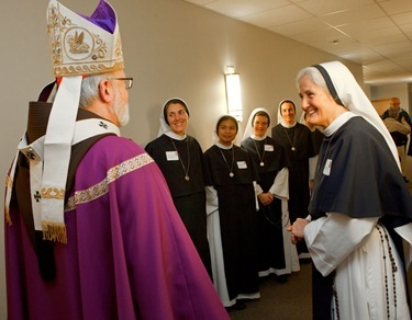 Presentation by Sisters for Life March 16, 2011. Pilot photo by Gregory L. Tracy