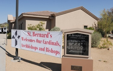 Cardinals Dinner Mass at St. Bernard of Clairvaux Catholic Church in Scottsdale, Arizona