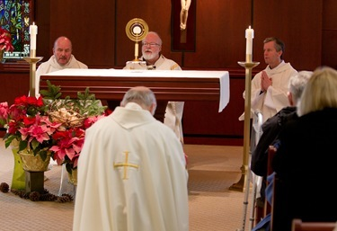 Cardinal Sean P. O'Malley celebrates Mass in honor of those harmed by clergy sexual abuse, Jan. 6, 2012. Pilot photo/ Gregory L. Tracy