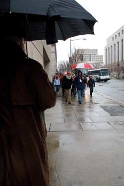 Boston pro-life pilgrims participate in the March for Life in Washington D.C. Jan. 23, 2012. Pilot photo/ Gregory L. Tracy