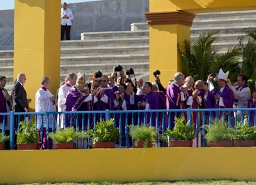 Mass with Pope Benedict XVI, Revolution Square, Havana, March 28, 2012. Photo by Gregory L. Tracy, The Pilot