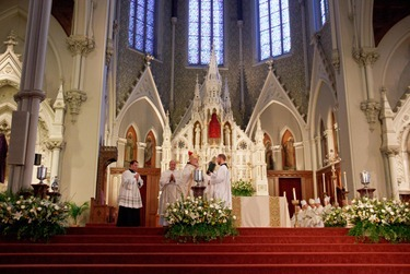 Cardinal OMalley celebrates the Chrism Mass April 3 at the Cathedral of the Holy Cross.  At the Mass, sacred oils are blessed that will be used in parishes for sacraments throughout the coming year.  Traditionally, the day is also an occasion to celebrate priestly fraternity. Pilot photo by Gregory L. Tracy