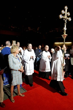 Cardinal Sean P. O'Malley celebrates the opening Mass of the 2012 National Catholic Education Association Convention in Boston, April 11, 2012. Pilot photo/ Gregory L. Tracy
