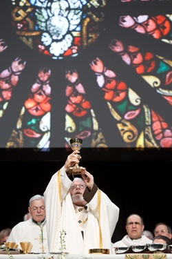 Cardinal Sean P. OMalley celebrates the opening Mass of the 2012 National Catholic Education Association Convention in Boston, April 11, 2012. Pilot photo/ Gregory L. Tracy