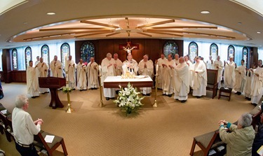 Mass for jubilarian priests, Archdiocese of Boston Pastoral Center, May 9, 2012. Photo by Gregory L. Tracy, The Pilot