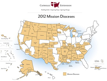 Catholic-Extension-Mission-Dioceses-Map