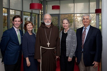 Gardner Museum, Cardinal Sean O&#39;Malley, Anne Hawley, Claire and John Bertucci on October 15, 2012