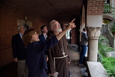 Gardner Museum, Cardinal Sean O'Malley, Anne Hawley, Claire and John Bertucci on October 15, 2012