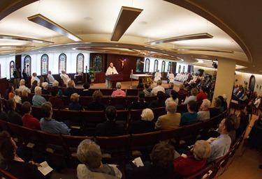 Cardinal Seán P. O'Malley celebrates a Mass at the Archdiocese of Boston's Bethany Chapel to open the Year of Faith Oct. 11, 2012.  Afterward, members of the media were invited to observe as he sent Twitter messages on the Year of Faith and on the physician assisted suicide ballot measure.<br /><br /><br /><br /><br /><br /><br />