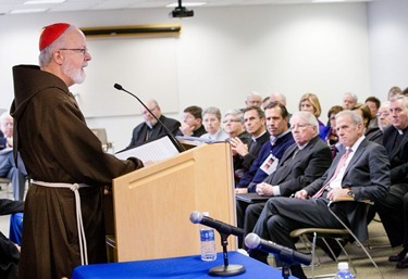 "Press conference to annouce cardinal's acceptance of the pastoral plan ""Disciples in Mission"" Nov. 15, 2012. 