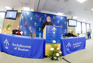 Press conference to annouce cardinal&#39;s acceptance of the pastoral plan &quot;Disciples in Mission&quot; Nov. 15, 2012. &#10;Photo by Gregory L. Tracy, The Pilot