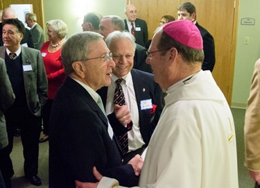 Bishop-Elect Deeley inducted as deputy chaplain of the Order of Malta Dec. 3, 2012. Pilot photo/ Christopher S. Pineo