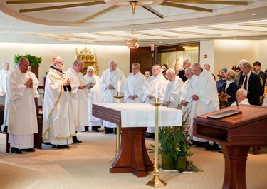 Mass with priests from Regina Cleri Dec. 6, 2012. Pilot photo/ Gregory L. Tracy