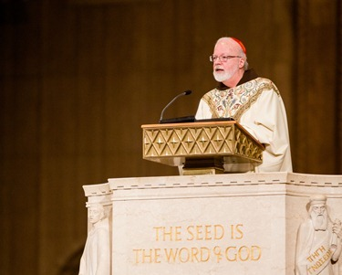 Cardinal Sean P. O'Malley serves as principle celebrant and homilist at the Opening Mass of the National Prayer Vigil for Life at the Basilica of the Shrine of the Immaculate Conception, Jan. 24, 2013.